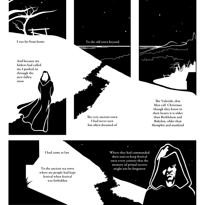 The Festival (a novel illustration) page 1